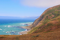 An isolated beach on California's Lost Coast near Punta Gorda along the westernmost side of the King Range. California's lost cost is located between Eureka and Mendocino, California, and includes the King Range National Conservation Area. Photographed 07/08
