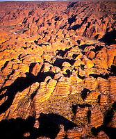 Aerial view of the Bungle Bungles Purnululu National Park, Western Australia, Australia Remote sandstone domes and beehives 67 v IC Bungle Bungle Range