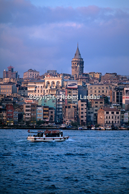 Istanbul seen across the Golden Horn with view of Galata Tower, Turkey