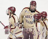 Haley Skarupa (BC - 22), Taylor Wasylk (BC - 9) - The Boston College Eagles defeated the visiting University of Maine Black Bears 5 to 1 on Sunday, October 6, 2013, in their Hockey East season opener at Kelley Rink in Conte Forum in Chestnut Hill, Massachusetts.