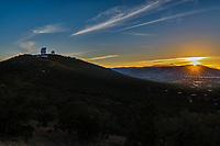 Sunset over the McDonald Observatory in Fort <br />