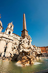 Piazza Navona Fountain of the Four Rivers (Fontana dei Quattro Fiumi), Rome, Italy