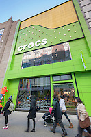 A newly opened Crocs store in Herald Square in New York, seen on Thursday, January 30, 2014.  (© Richard B. Levine)