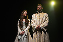 Edinburgh, UK. 05.08.2014.  THE JAMES PLAYS opens at the Festival Theatre as part of the Edinburgh International Festival Fringe. Written by Rona Munroe and directed by Laurie Sansom. Picture shows: Stephanie Hyam (Queen Joan) and James McArdle (James I) in JAMES I. Photograph © Jane Hobson.