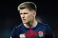 Owen Farrell of England looks on after the match. Old Mutual Wealth Series International match between England and Argentina on November 26, 2016 at Twickenham Stadium in London, England. Photo by: Patrick Khachfe / Onside Images