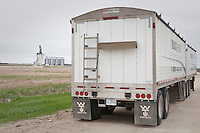 A truck Freight International trailer used to hauled grains is pictured near Winnipeg Monday May 23, 2011.