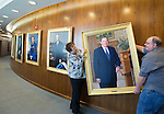 1602-32 263<br /> <br /> President Cecil O. Samuelson official portrait unveiling and hanging.<br /> President Kevin Worthen, Samuelson family, President Council, Artist<br /> <br /> February 23, 2016<br /> <br /> Photography by: Mark A. Philbrick/BYU Photo<br /> <br /> Copyright BYU Photo 2016<br /> All Rights Reserved<br /> photo@byu.edu (801)422-7322<br /> <br /> 6449