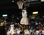 "Ole Miss' Aaron Jones (34) dunks vs. Grambling State during the first half at the C.M. ""Tad"" Smith Coliseum in Oxford, Miss. on Monday, November 14, 2011.."