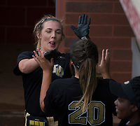 NWA Democrat-Gazette/ANTHONY REYES @NWATONYR<br /> De Queen against Valley View Friday, May 19, 2017 in the 5A State Softball Championship at Bogle Park in Fayetteville. De Queen won 4-1.