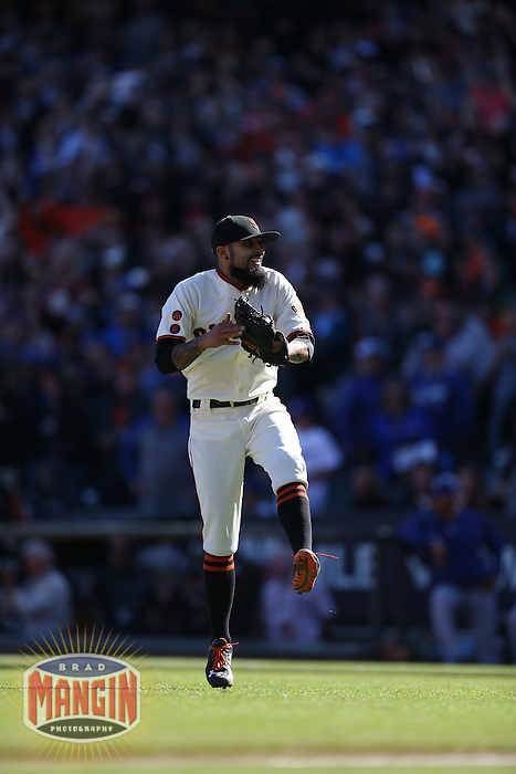 SAN FRANCISCO, CA - OCTOBER 2:  Sergio Romo #54 of the San Francisco Giants celebrates after the game against the Los Angeles Dodgers at AT&T Park on Sunday, October 2, 2016 in San Francisco, California. The Giants beat the Dodgers 7-1 to clinch a postseason berth as a Wild Card representative in the National League. Photo by Brad Mangin