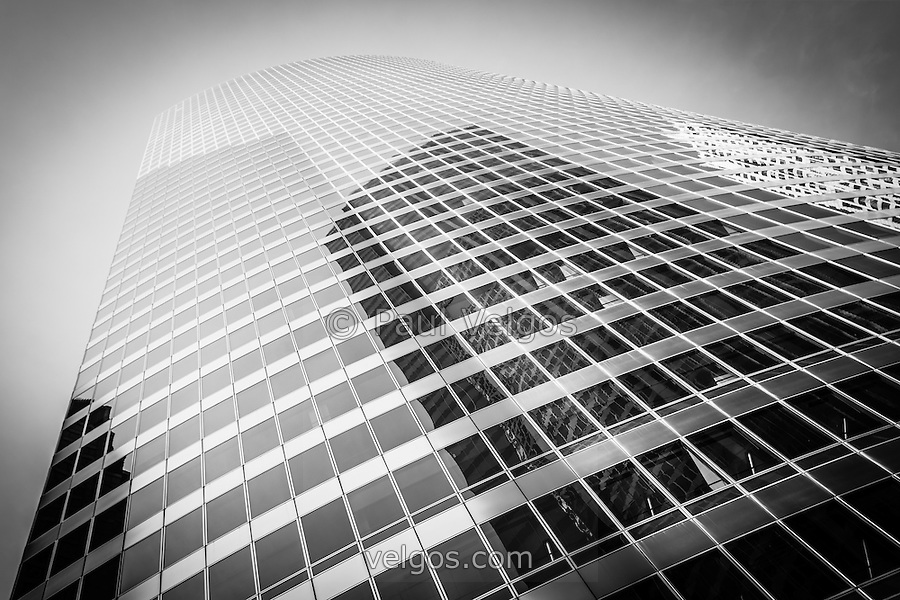 Office building black and white
