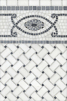 Name: Prudence with Basketweave 3x5 cm<br /> Style: Contemporary<br /> Product Number: CB0712<br /> Description: Prudence with Basketweave 3x5 cm in Bardiglio, Thassos, Nero Marquina (t)