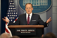 MAR 24 Sean Spicer, the WH Press Secretary holds a daily press briefing