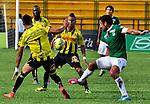 Floridablanca- Alianza Petrolera derrotó 3 goles por 1 a Deportivo Cali, en el partido correspondiente a la fecha 14 del Torneo Clausura 2014, desarrollado el 11 de octubre en el estadio Álvaro Gómez Hurtado.