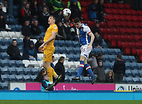 Blackburn Rovers' Darragh Lenihan and Preston North End's Jordan Hugill<br /> <br /> Photographer Rachel Holborn/CameraSport<br /> <br /> The EFL Sky Bet Championship - Blackburn Rovers v Preston North End - Saturday 18th March 2017 - Ewood Park - Blackburn<br /> <br /> World Copyright &copy; 2017 CameraSport. All rights reserved. 43 Linden Ave. Countesthorpe. Leicester. England. LE8 5PG - Tel: +44 (0) 116 277 4147 - admin@camerasport.com - www.camerasport.com