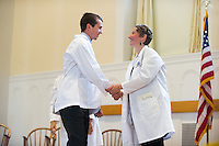 Joseph Miller, left, Chista Zehle, M.D. Class of 2017 White Coat Ceremony.