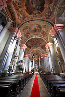 Interior of the Minorite church (Minorita Templom) Eger, Hungary