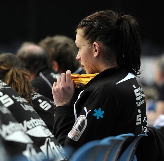 1. Bundesliga Handball Frauen - Punktspiel HC Leipzig (HCL) : DJK / MJC Trier - Arena Leipzig - im Bild: Luisa Schulze. Foto: Norman Rembarz ..