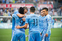 BRONX, NY - Saturday May 21, 2016: New York City FC defeats the Colorado Rapids 5-1 at home at Yankee Stadium in regular season MLS play.