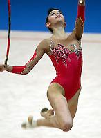 Sep 28, 2000; SYDNEY, AUSTRALIA:<br /> INGA TAVDISHVILI of Georgia performs with hoop during rhythmic gymnastics qualifying at 2000 Summer Olympics.