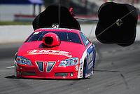 May 5, 2012; Commerce, GA, USA: NHRA pro stock driver Shane Gray during qualifying for the Southern Nationals at Atlanta Dragway. Mandatory Credit: Mark J. Rebilas-