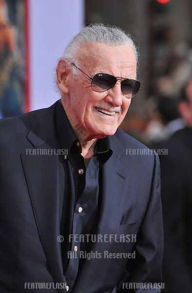 """Stan Lee at the Los Angeles premiere of his movie """"Iron Man 3"""" at the El Capitan Theatre, Hollywood..April 24, 2013  Los Angeles, CA.Picture: Paul Smith / Featureflash"""