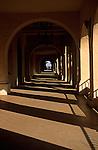 Casa del Prado in Balboa Park arches and sunlight and shadows