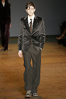 Alex Dunstal walks runway in an outfit from the Marc by Marc Jacobs Fall/Winter 2011 collection, during New York Fashion Week, Fall 2011.