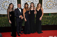 Sylvester Stallone &amp; wife Jennifer Flavin &amp; daughters Scarlet Stallone &amp; Sophia Stallone at the 74th Golden Globe Awards  at The Beverly Hilton Hotel, Los Angeles USA 8th January  2017<br /> Picture: Paul Smith/Featureflash/SilverHub 0208 004 5359 sales@silverhubmedia.com