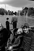 """Teheran, Iran, April 2, 2007.In Laleh park. Millions of Iranians take to the parks and the countryside for family picnics on the 13th day of the Iranian new year for """"Sizdah Be Dar""""."""