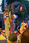 Silversun Pickups lead singer Brian Aubert performs with the rest of the band during the 2012 KROQ Weenie Roast y Fiesta at Verizon Wireless Amphitheater.