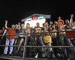 Texas fans cheer at Ole Miss vs. Texas at Vaught-Hemingway Stadium in Oxford, Miss. on Saturday, September 15, 2012. Texas won 66-21. Ole Miss falls to 2-1.