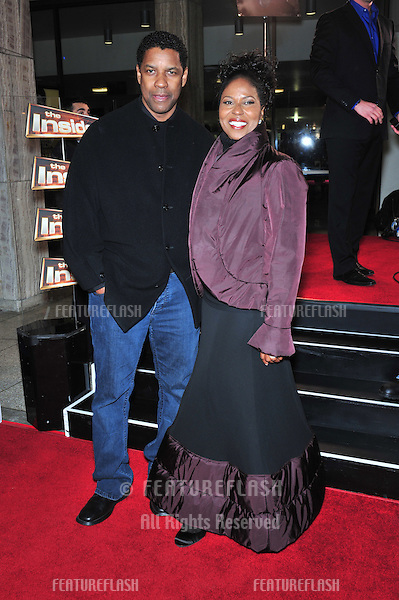 "Denzel Washington & wife Paulette Washington at the Los Angeles premiere of his new movie ""The Great Debaters"" at the Cinerama Dome, Hollywood..December 11, 2007  Los Angeles, CA.Picture: Paul Smith / Featureflash"