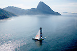 The Ultime Class 100' VPLP designed trimaran Sodebo and the Sailing Team in Rio de Janeiro, Brazil.
