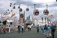 Vancouver: EXPO '86--Overhead monorails. Photo '86.