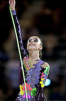 October 20, 2001; Madrid, Spain:  INNA ZHUKOVA for Belarus performs with rope at 2001 World Championships at Madrid.