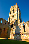 Bell Tower of Fountains Abbey , founded in 1132, is one of the largest and best preserved ruined Cistercian monasteries in England. The ruined monastery is a focal point of England's most important 18th century Water, the Studley Royal Water Garden which is a UNESCO World Heritage Site. Near Ripon, North Yorkshire, England