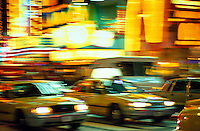 USA, New York, NYC. Taxis on Broadway