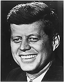 Undated head shot of John Fitzgerald Kennedy, 35th President of the United States..Credit:  White House via CNP
