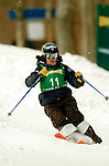 15 January 2005 - Lake Placid, New York, USA - Aiko Uemura representing Japan, competes in the FIS World Cup Ladies' Moguls Freestyle ski competition, ranking 14th for the day, at Whiteface Mountain, Lake Placid, NY. ..Mandatory Credit: Ed Wolfstein Photo.