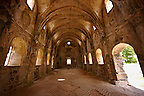Interior of the 17th cent. Orthodox High Church of Kayak&ouml;y (Kayakoy) or Karmylassos, an abandoned Greek Village 8km from Fethiye in Turkey whose inhabitants left as part of a  population exchange agreement between the Turkish and Greek governments in 1923 after the Greco Turkish War.