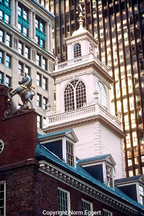 Old State House, Boston, MA dwarfed by skyscrapers