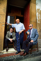 Corleone, Sicily, Italy, May 2007. The old men have seen it all in Corleone, inspiration for The Gotfather movies.  Photo by Frits Meyst/Adventure4ever.com