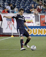 New England Revolution midfielder Marko Perovic (29) gets ready to pass the ball.  The New England Revolution drew FC Dallas 1-1, at Gillette Stadium on May 1, 2010