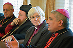 Archbishop Antje Jackelen of the Church of Sweden listens to Iraqi church leaders during a January 23, 2017, meeting in Erbil, in northern Iraq's Kurdistan region. Jackelen was a member of an international delegation sponsored by the World Council of Churches.