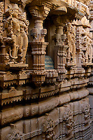 """Interior Jain Temple in Jaisalmer, the """"Golden City,"""" is located on the westernmost frontier of India in the state of Rajasthan. Close to the Pakistan border, the city is known for its proximity to the Thar Desert."""