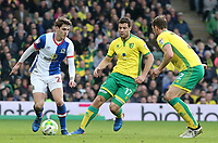Blackburn Rovers' Connor Mahoney tries to find a way through the Norwich City defence<br /> <br /> Photographer David Shipman/CameraSport<br /> <br /> The EFL Sky Bet Championship - Norwich City v Blackburn Rovers - Saturday 11th March 2017 - Carrow Road - Norwich<br /> <br /> World Copyright &copy; 2017 CameraSport. All rights reserved. 43 Linden Ave. Countesthorpe. Leicester. England. LE8 5PG - Tel: +44 (0) 116 277 4147 - admin@camerasport.com - www.camerasport.com