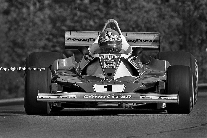 BOWMANVILLE, ONTARIO - OCTOBER 3: Niki Lauda of Austria drives his Ferrari 312T2 026/Ferrari 015 during the Canadian Grand Prix FIA Formula 1 race at Mosport Park near Bowmanville, Ontario, on October 3, 1976.