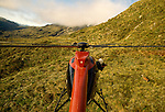 Helicopter hunting for deer. Fiordland National Park, New Zealand