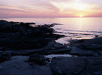 Bruce Peninsula and Lake Huron near Tobermory at Sunset